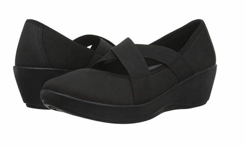 New Crocs Women's Busy Day Strappy Wedge Shoes Black Variety Size