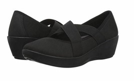 New Crocs Women's Busy Day Strappy Wedge Shoes Black Variety Size image 1