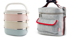 3 Layer Bento Lunch Food Containers, Stainless, Insulatded Lunch Bag Sil... - $26.18