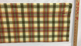 "Fabric Curtain Valance Panel Check Gingham Red Green Yellow 13"" L x 68"" W - $10.88"