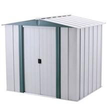 Steel Storage Shed w/ Floor Kit 6 x 5 Lockable Double Door Outdoor Garde... - $313.20