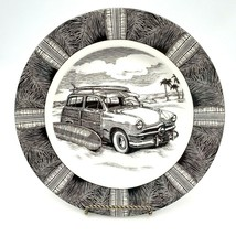 222 Fifth Slice of Life SURF WOODY Dinner Plate Marla Shega AS IS - $19.88