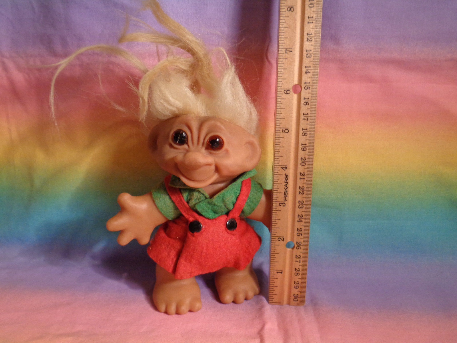 Vintage 1960's Thomas Dam Troll w/ Original Outfit Made in Denmark - as is