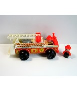 Vintage 1970s FP Fisher Price Play Family Fire Engine & Fireman No. 720 ... - $14.99