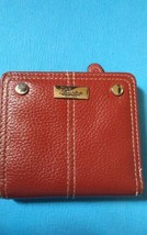 BUXTON Genuine Red Leather Mini Wallet SMALL Snap Closure Card Holder ID - $9.99