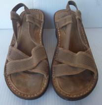Women's UGG AUSTRALIA Style# 3146 Mayley Fawn Wedge Slingback Sandal -- Size 8 - $38.99