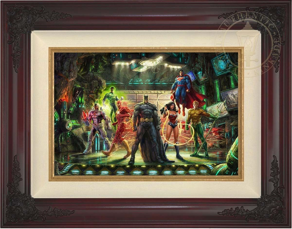 Thomas Kinkade Justice League 12 x 18 Limited Edition G/P Canvas (Framed) DC Art