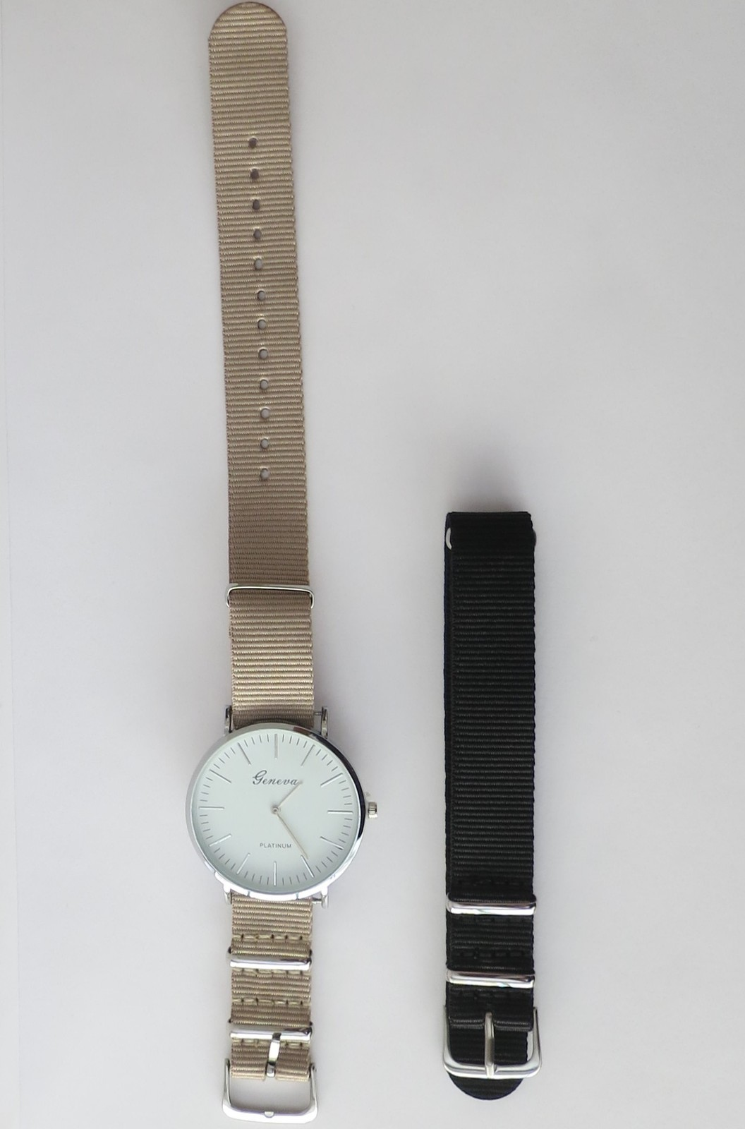 Watch for woman. Minimalist women's watch. Big wrist watch. Watch with two bands