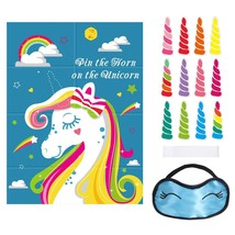 Unomor Pin The Horn On The Unicorn Party Game for Unicorn Party Supplies... - ₨917.43 INR