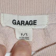 Garage Clothing Women's Pink Reverse Diagonal Knit Raw Hem Shirt Size S image 3