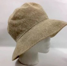 KANGOL Bucket Hat Cotton Linen Blend Beige Tan Size Reg Great Britain - $31.34