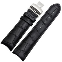 Compatible 22mm Black Leather Watch Strap Band with Clasp/Buckle Fits Tissot T03 - $28.98