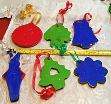 6 Vintage Cookie Cutter Hand Made Christmas Ornaments image 2