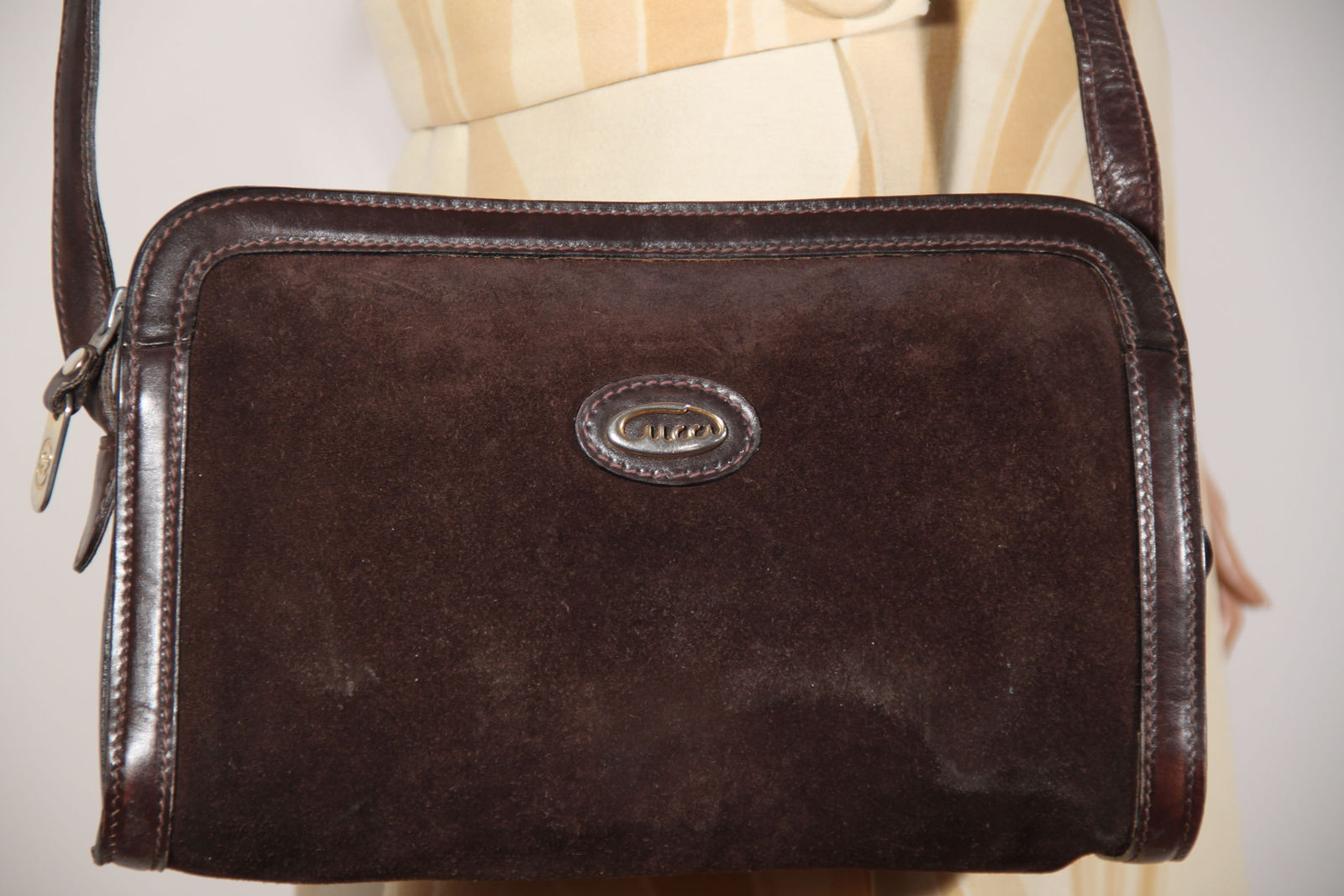0215be56d3c Authentic GUCCI Vintage Brown Suede Shoulder and 50 similar items