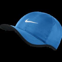 NEW! NIKE Mens FeatherLite 2.0 Adjustable Hat-PhotoBlue/Black/White - $49.38