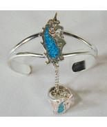 UNICORN LADY SILVER SLAVE BRACELET jewelry women #66 - $18.04