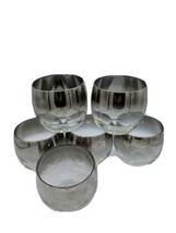 Set of 6 VTG Dorothy Thorpe Style MCM Silver Fade 8oz Roly Poly Bar Glas... - $34.95