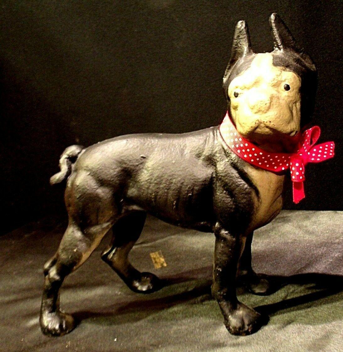 Antique Cast Iron Boxer Boston Terrier Replica AA-191739 Vintage Collectible