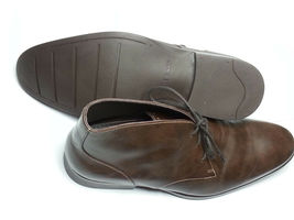 Cole Haan Men Size 10.5 Brown Leather Copley Chukka Boots Made in India New Box image 6