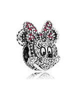 Sterling Silver 925 Disney Minnie Charm Bead Fits Pandora Bracelets 1pcs - $17.99
