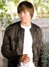Oblow 17 Again Zac Efron Wrinkled Washed Leather Jacket - $89.99