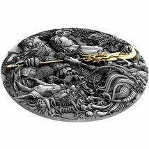 2019 $5 Guan Yu - Chinese Heroes 2oz Silver High Relief Coin image 3