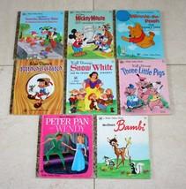 8 Little Golden Books - Mickey Bambi Pigs Pinocchio Snow White Pooh Disney - $17.32