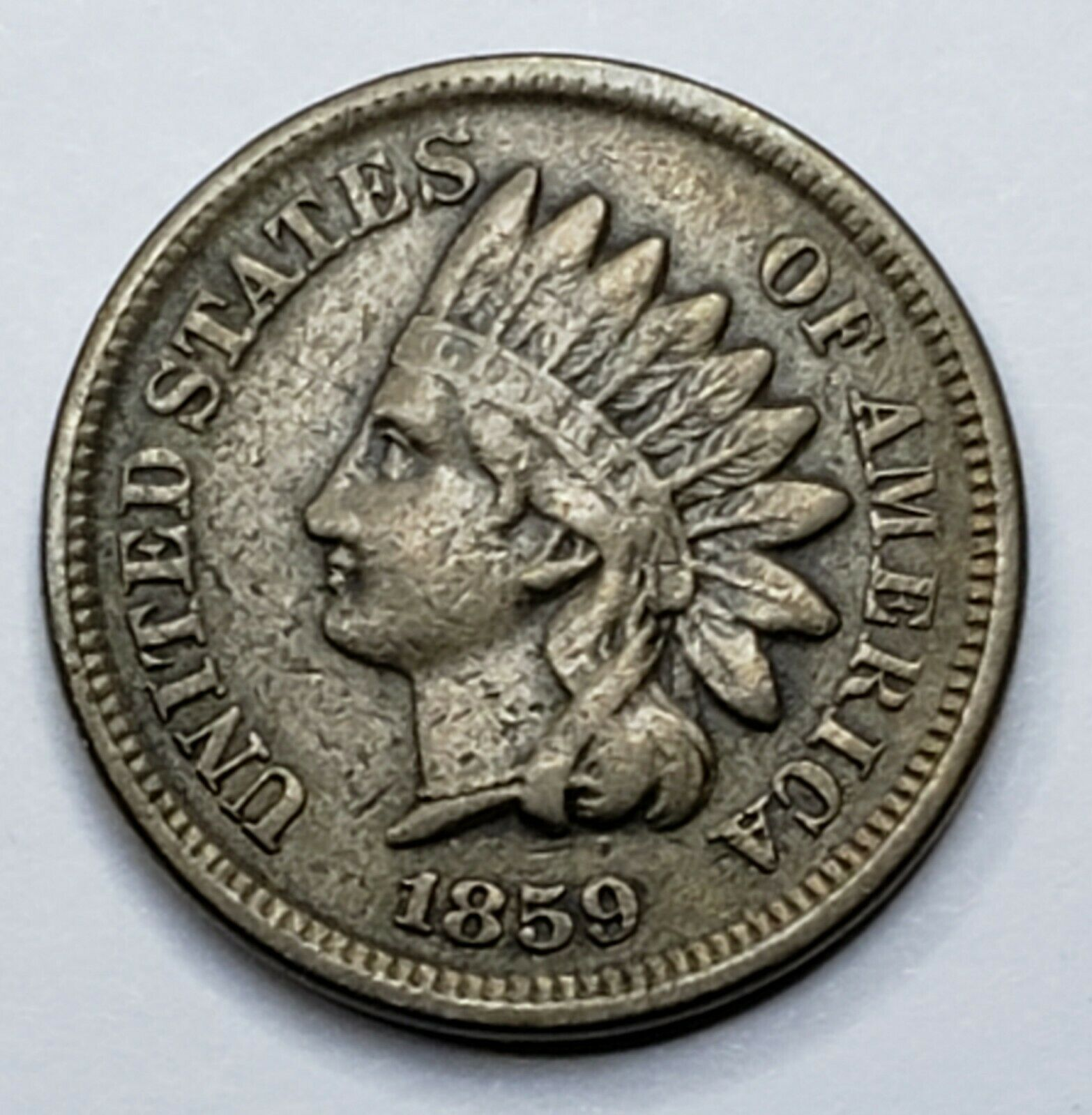 1859 Indian Head Cent Penny Coin Lot 519-114