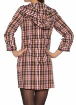Bench UK Plaid Navy Yellow Red Cocoa Tunic Cotton Poly Dress w Hood NWT image 2