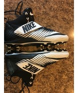 NIKE Men's Lunarbeast Pro TD Mid Football White Black Cleats 839935-100 ... - $26.97
