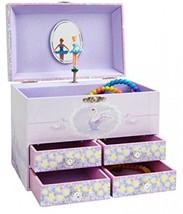 JewelKeeper Stars And Swans Large Musical Ballerina Jewelry Storage Box ... - $62.88