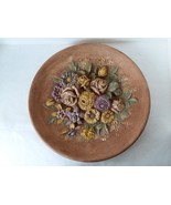 "Ceramic Wall Plaque Bouquet of Flowers 13 1/2""  Wall Art - $22.27"