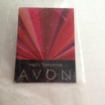 "Avon Hello Tomorrow Square Lapel Pin 2' X1.5"" 2007 Women's Empowerment C... - $8.51"