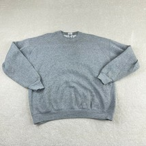 Vintage Fruit of the Loom Pullover Sweatshirt Mens XL Gray Crew Neck Casual - $28.66