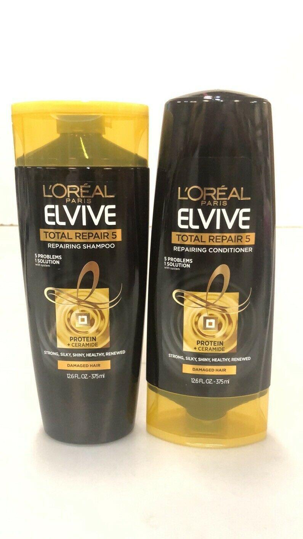 L'Oreal Paris Elvive Total Repair 5 Shampoo & Conditioner Set 12.6 oz each - $14.84