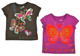 NWT Children's Place Glittery Butterfly Graphic T-Shirt - $7.99