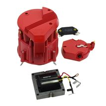HEI Distributor 8CYL Tune-Up Kit 65k Volt Ignition Coil Red Super Male Cap image 3