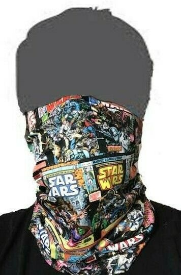 Star Wars Comic Face Covering neck gaiter buff sun protection quick dry UPF +50
