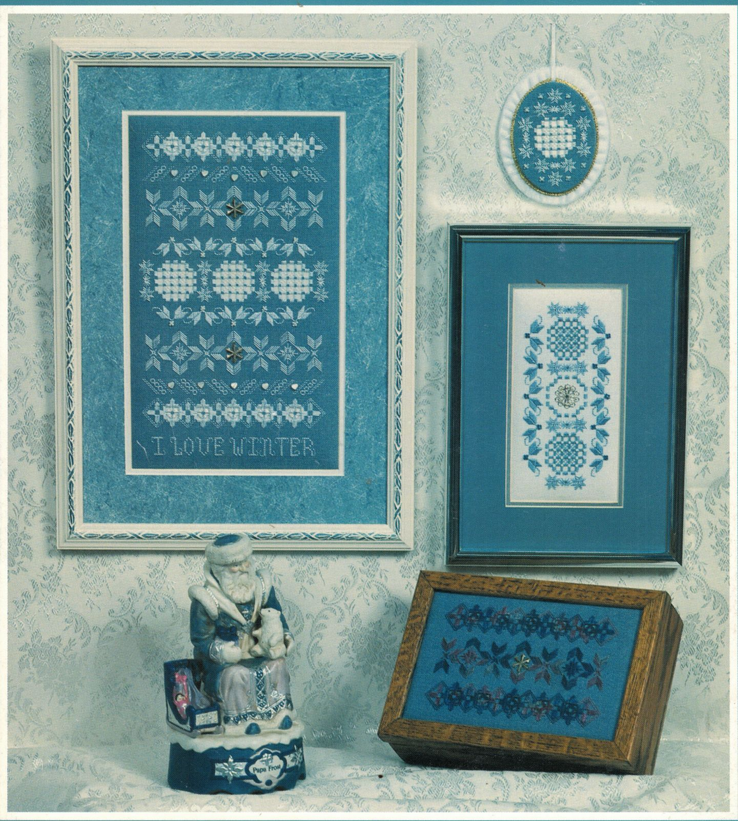I Love Winter Hardanger Embroidery Seasonal Sampler Rosalyn Watnemo Book