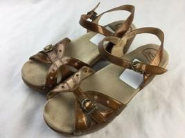 Dansko Sissy Crinkle Bronze Patent Leather Clog Sandals Size 41 US 10.5 ... - $23.36