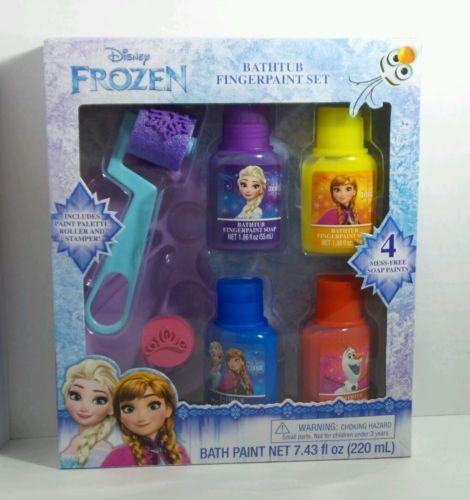 Disney Frozen Bathtub Fingerpaint Set NIB Stamper included