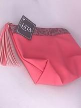"""Ulta Pink Tassel Leaf Makeup Cosmetic Pouch Clutch Bag Case 8.75""""x6.75""""x2.75"""" - $7.87"""