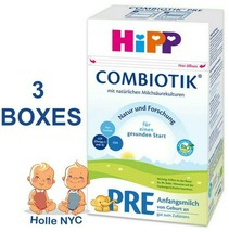 HiPP Stage Pre Bio Combiotic Infant Formula 3 Boxes 600g Free Shipping - $102.95
