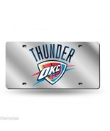 OKLAHOMA CITY THUNDER NBA BASKETBALL LOGO MIRROR LASER OKC LICENSE PLATE - $45.12
