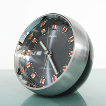 RHYTHM 51114 DATE FEATURES! Chrome Top! Alarm Clock Space Age Mid Centur... - $249.00