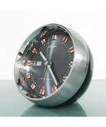 RHYTHM 51114 DATE FEATURES! Chrome Top! Alarm Clock Space Age Mid Centur... - $249.00