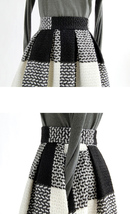 2020 Winter PLAID Midi Holiday Outfit Women Wool Plaid Party Skirt Plus Size image 13