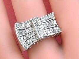 ANTIQUE RETRO .80ctw BRILLIANT DIAMOND PLATINUM UNISEX RING 1940 UNIQUE - $2,870.01