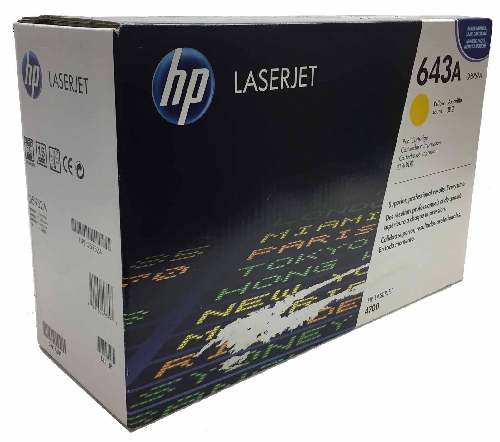DISCOUNTED HP 643A Yellow Original LaserJet Toner Cartridge