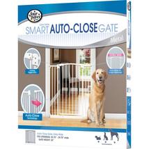 Four Paws White Auto Closing Metal Gate Extra Wide 35.75-39.75x36 045663... - $96.20